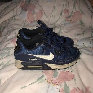 Youth Nike Air Max Navy